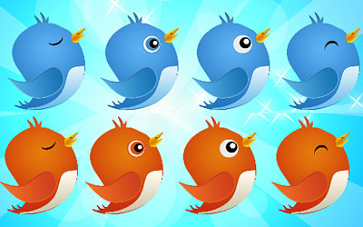 Скачать Free Twitter Bird Icon pack