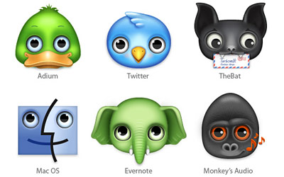 Скачать Zoom-eyed creatures icons