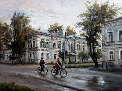 Бусыгин Валерий. Велосипедисты в Моршанске