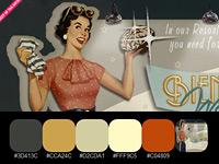20 готовых цветовых палитр в стиле ретро, взятых с винтажных сайтов