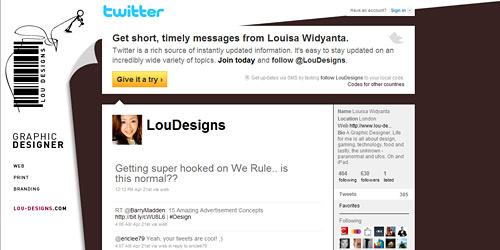 Перейти на @loudesigns