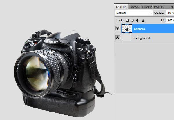 Как в фотошопе художественно расплавить зеркальный фотоаппарат