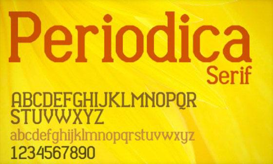 Скачать Periodica serif Font