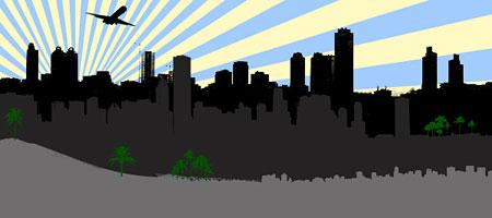 Скачать Кисти Силуэты города 21
