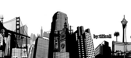 Скачать Кисти Силуэты города 24