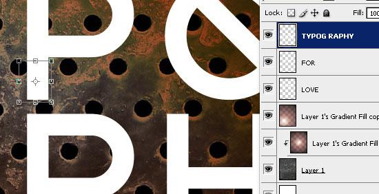 Создаем в фотошопе типографический постер в модном ретро стиле