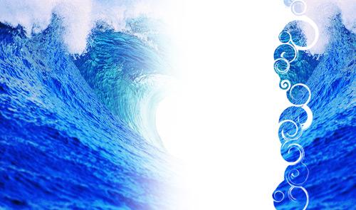 Создаем фон для Твиттера из фотографии с океанскими волнами
