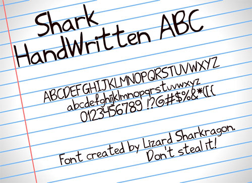 Shark HandWritten ABC