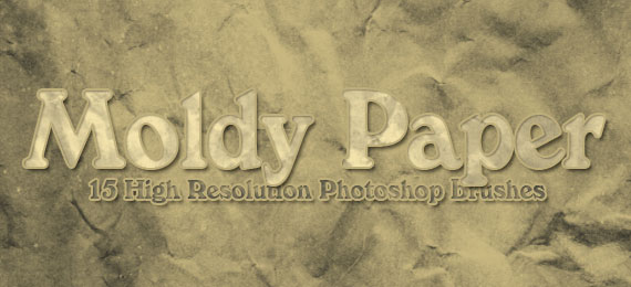 Скачать 15 Moldy Paper Photoshop Brushes