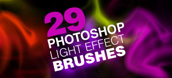 Скачать 29 Light Effect Brushes for Photoshop