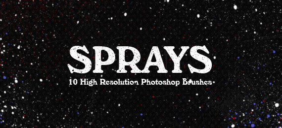 Скачать Sprays: 10 Photoshop Brushes