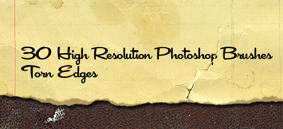 Скачать Torn Paper Edges: 38 Photoshop Brushes
