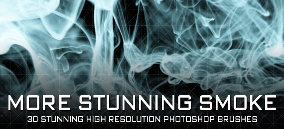 Скачать More Stunning Smoke: 30 Photoshop Brushes