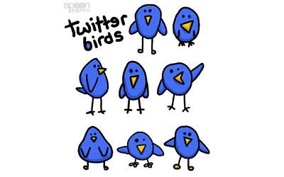 Скачать 8 Free Cute & Simple Twitter Bird Vector Graphics