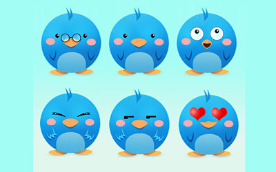 Скачать Adorable Twitter Icon Pack
