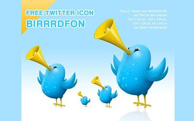 Скачать Pixey Birrrdfon Twitter Icons