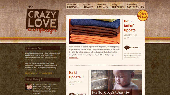 Перейти на The Crazy Love Campaign