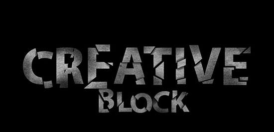Создаем в фотошопе художественно разбитый блок с текстом