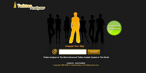 Перейти на Twitter analyzer