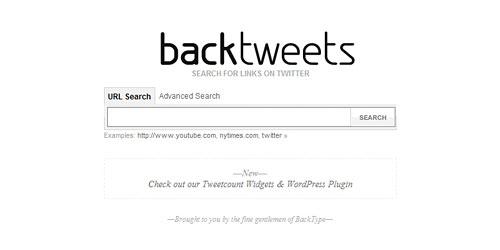 Перейти на Back tweets