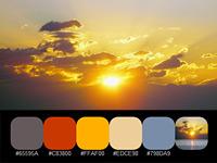 20 готовых цветовых палитр с красками настоящих солнечных восходов
