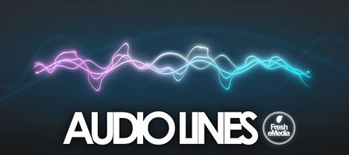 Скачать Photoshop Audio Lines Brushes by *freshemedia