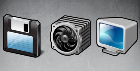 Скачать Stroke computer gadgets icons