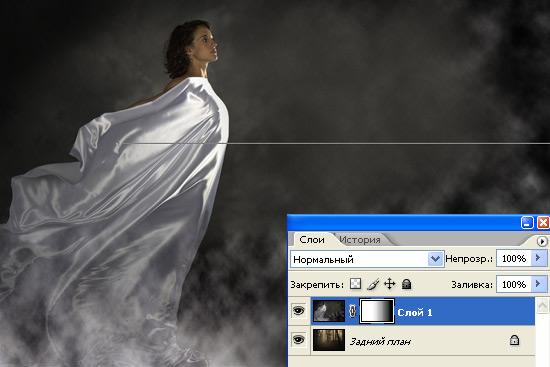 Делаем в фотошопе плавный переход между двумя фотографиями
