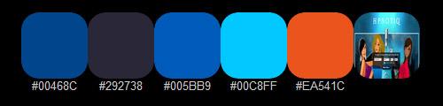 Яркая цветная палитра 8