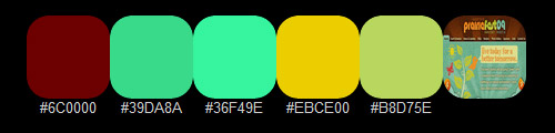Яркая цветная палитра 9