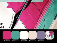 20 замечательных  палитр, взятых с сайтов с ярким цветным дизайном