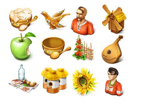 Скачать Ukrainian Motifs Icons