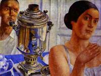 Звучный цветовой колорит и плавная ритмика форм в картинах Петрова-Водкина