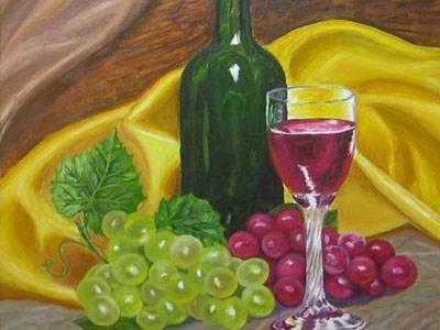 Тригуб Владимир (Vladimir_Trigub)/Натюрморт с виноградом