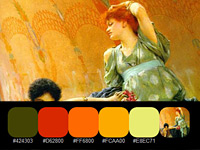 20 готовых палитр с цветами ушедшей эпохи, взятые с картин Альма-Тадема
