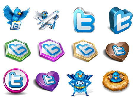 Скачать Original Vector twitter icons