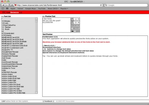Перейти на STC Font Browser