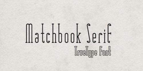 Скачать Matchbook Typefaces