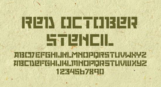 Red October Stencil
