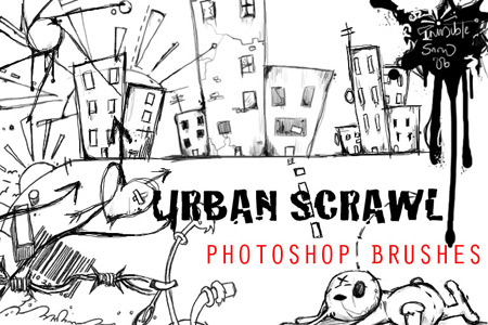 Скачать Urban Scrawl Photoshop Brushes