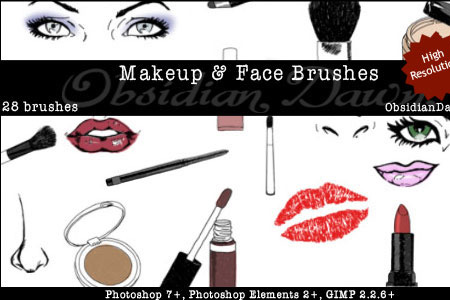 Скачать Makeup + Face Sketches Brushes