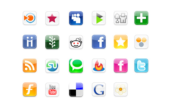 Скачать Iphone Style Social Icons By Fasticon