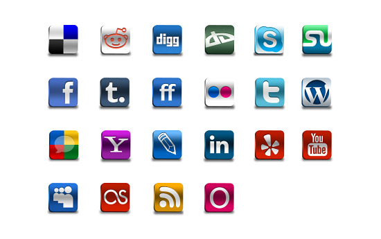 Скачать Social Networks Pro Icons By Artbees