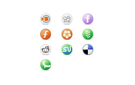 Скачать Circle Social Bookmark Icons By Fasticon