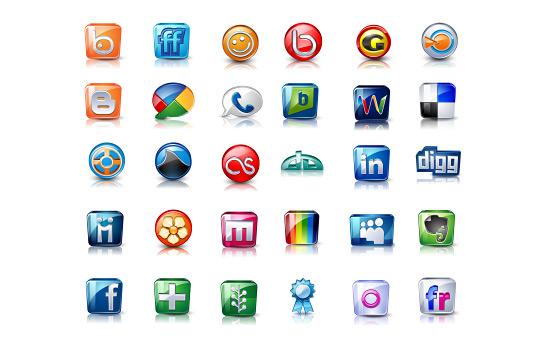 Скачать High Detail Social Icons By Iconshock