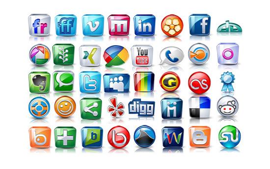 Скачать High Detail Social Icons