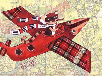 Самолет над городом