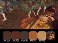 Скачать 20 готовых цветовых палитр, взятых с картин импрессиониста Эдгара Дега