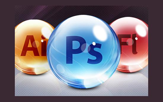 Скачать Adobe CS5 Glass Dock icons