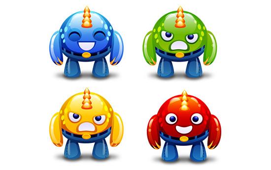 Скачать Cute Monsters Icons